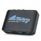 AY56 AV / S-Video-auf-HDMI Video Converter w / Mini-USB / CVBS L / R - Schwarz