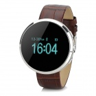 "D360 0.95"" scherm Bluetooth V3.0 Smart Watch w / stappenteller - Brown + zilver"