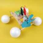 DIY Handcrafted Amphibious Vehicle Toy Set - White + Blue