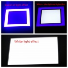 ZHISHUNJIA 20W 1350lm 30-5630 White LED + 18-2835 Blue LED Dimmable Square Panel Light (AC 85~265V)
