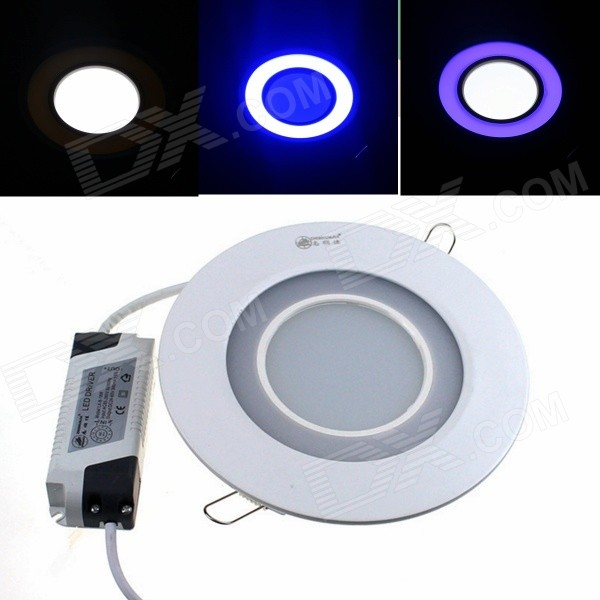 ZHISHUNJIA 20W 1350lm 30-5630 18-2835 Blue Dimmable Round Panel Light