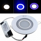 ZHISHUNJIA 15W 1080lm 24-5630 12-2835 Blue Dimmable Round Panel Light