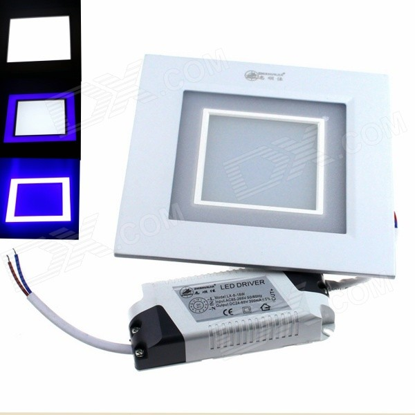 ZHISHUNJIA 15W 1080lm 24-5630 12-2835 Blue Dimmable Square Panel Light