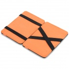 WB-1215 Folding 6-Slot Card Bag - Black + Orange