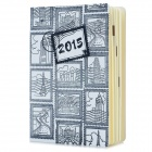 National Cultural Attractions Stamps Pattern 156-Paper Notebook - Black + White