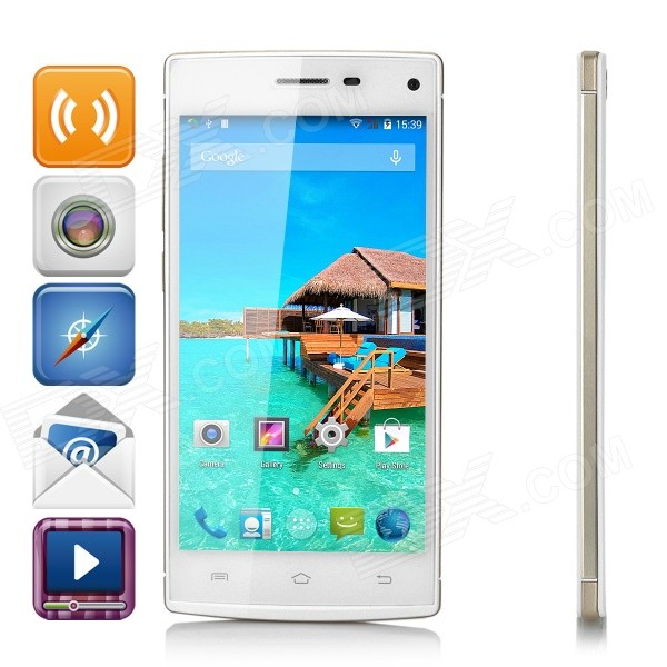 Mlais M9 Android 4.4.2 Octa-Core 3G Phone w/ 1GB RAM, 8GB ROM - White