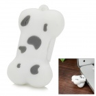 Cartoon Silicone Dog Bone Style USB 2.0 Flash Drive - White + Grey (8GB)
