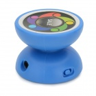 Yo-yo Style Music MP3 Player w/ TF / 3.5mm / Mini USB - Blue + White