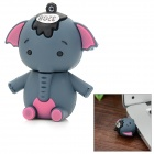Cute Cartoon Little Elephant Style USB 2.0 Flash Drive - Dark Grey + Pink + Black (32GB)
