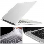 "Mr.northjoe 3-in-1 Matte PC Case + Keyboard Cover + Anti-dust Plugs for MACBOOK AIR 13.3"" - White"