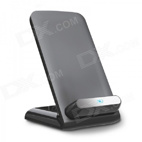 5V 1A Qi Holder Station Wireless Charger for Cellphone - Black