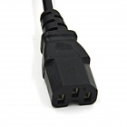 1-to-2 Splitter Power Cord Cable for PC / Display - Black (US Plug)