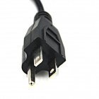 1-para-2 Splitter cabo de alimentação cabo para PC / Display - Preto (US Plugs)