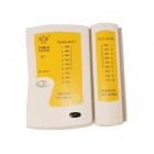 BESTIR BST-01131 Multifunctional Network Cable Tester w/ RJ45 / RJ11 - White + Yellow