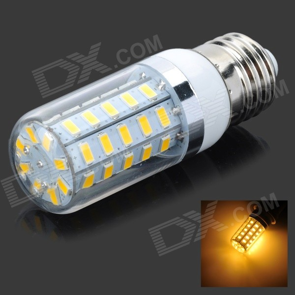 E27 4.5W Warm White 3500K 360lm 48-SMD LED Corn Light (AC 220~240V)E27<br>Form  ColorWhite + Beige + Multi-ColoredColor BINWarm WhiteModelN/AMaterialPlastic + aluminumQuantity1 DX.PCM.Model.AttributeModel.UnitPowerOthers,4.5WRated VoltageAC 220-240 DX.PCM.Model.AttributeModel.UnitConnector TypeE27Chip BrandOthers,N/AEmitter TypeOthers,5730Total Emitters48Theoretical Lumens400 DX.PCM.Model.AttributeModel.UnitActual Lumens360 DX.PCM.Model.AttributeModel.UnitColor Temperature12000K,Others,2800-3500KDimmableNoBeam Angle360 DX.PCM.Model.AttributeModel.UnitCertificationCE, RoHSPacking List1 x LED bulb<br>