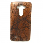 Carved Birds on Tree Pattern Protective Wooden Back Case for LG G3 - Brownish Red