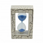 Photo Frame Style Sandglass - White + Blue + Multi-Color
