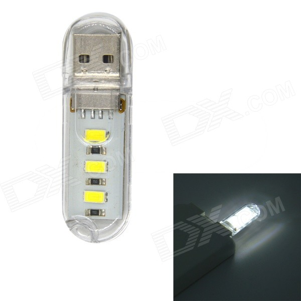 JMT-USB1 1W 60lm 3-SMD 5730 LED White Mobile Power USB Night Light