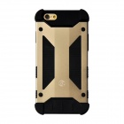GeekRover Armor Hybrid Protective Aluminum + Silicone Back Case for IPHONE 6 - Golden + Black