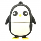 QR4G Cartoon-Pinguin-Art USB 2.0 Flash Drive - White + Black (4GB)