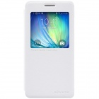 NILLKIN Protective PU Leather + PC Case Cover w/ Window for Samsung Galaxy A5 - White
