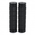 Rubber Bike Bicycle Handlebar Grip Covers for Bike - Black (Pair)