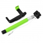 plegable monópode autofoto cable de 3.5mm para IPHONE - verde + plata