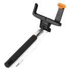 Portable 7-Section Folding 3.5mm Wired Selfie Monopod for IPHONE - Black