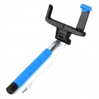 Folding 3.5mm Wired Selfie Monopod for IPHONE - Blue + Silver