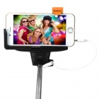 Folding 3.5mm Wired Selfie Monopod for IPHONE - Orange + Silver