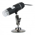 500X 2.0MP USB Wired Digital Microscope w/ 8-LED Light / Mount Holder - Black