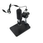600X 2.0MP USB Wired Digital Microscope w/ 8-LED Light / Mount Holder / Base - Black