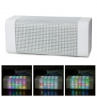 B-16 Bluetooth V2.0 Speaker w/ LED Light / Mic / TF / 3.5mm / USB 2.0 / Micro USB - White