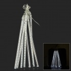 24W 620lm 6500K 240-LED-Weiß Meteor Regen Stil Licht Tube Light String - Transparent (AC 100 ~ 240V)
