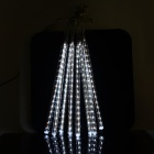 24W 620lm 240-LED White Meteor Rain Style Light Tube Light String