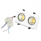 XZD-TDC203F 6W 90lm 3000K 2-COB LED Warm White Light Ceiling Lamp