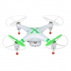 ChengXing CX-30W 2.4GHz 4-CH Cellphone-Controlled R/C Quadcopter w/ Camera / Wi-Fi - Green + White