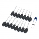LIT 16-in-1 Steel Car Lock Picks Tools Kit - Black + Silver