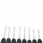 16-in-1 Steel Car Lock Picks Tools Kit - Black + Silver