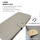 MO.MAT Premium PU Wallet Case for IPHONE 6 Plus - Gray