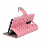 Stylish Flip-Open PU Leather Case w/ Stand for LG Optimus G2 - Pink