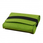 OUSHINE Portable Felt Storage Sleeve Bag for Mouse / Power Pack + More - Grass Green