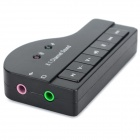 USB2.0 HIFI Magic Voice 8.1-CH Sound Card - Black