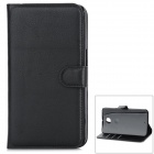 Classic Flip-open PU Leather Case w/ Card Slot + Holder for Google Nexus 6 - Black