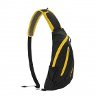 NatureHike Outdoor Sport Water Resistant Nylon One-Shoulder Messenger Bag - Black + Yellow