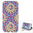 """Tribal Pattern Flip-open PU Leather Case w/ Stand for IPHONE 6 4.7"""" - Multicolored"""