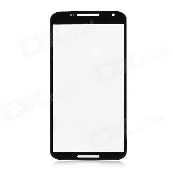 Replacement Tempered Glass Screen Cover for Google Nexus 6 - Black