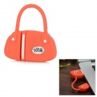 Fashionable Mini Bolsa Estilo USB 2.0 Flash Drive - Red + White ( 16GB)