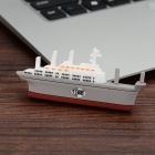 Mini Aircraft Carrier Style USB 2.0 Flash Drive - White + Grey (16GB)