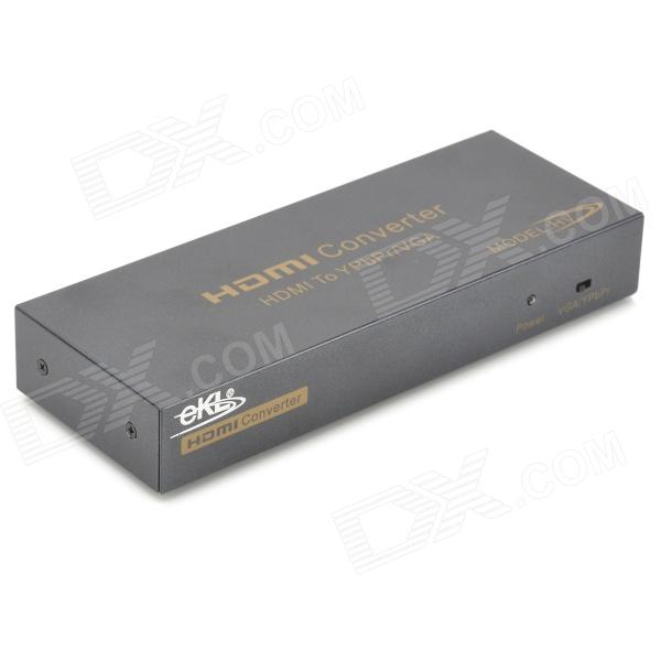 1080p HDMI V1.2a to Component YPbPr/VGA/SPIDF/L/R Audio Converter (100~240V AC) ypbpr to hdmi converter 5rca component audio video scaler adapter
